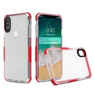 Transparent Protective Bumper Case for iPhone XS Max - Red
