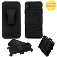 Advanced Armor Hybrid Kickstand Case with Holster for iPhone XS Max - Black