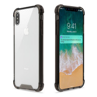 Ultra Hybrid Shock Absorbent Crystal Case for iPhone XS Max - Smoke