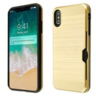ID Card Slot Hybrid Case for iPhone XS Max - Gold