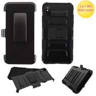 Advanced Armor Hybrid Kickstand Case with Holster Belt Clip for iPhone XS Max -  Black 221