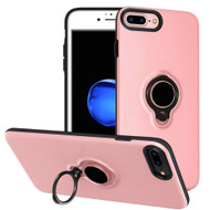 Smart Power Bank Battery Case 7200mAh with Ring Holder for iPhone 8 Plus / 7 Plus / 6S Plus / 6 Plus - Pink