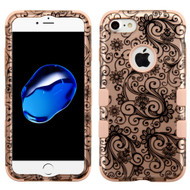 Military Grade Certified TUFF Hybrid Armor Case for iPhone 8 / 7 - Leaf Rose Gold