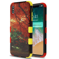 Military Grade Certified TUFF Hybrid Armor Case for iPhone XS Max - Fall Foliage