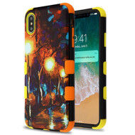 Military Grade Certified TUFF Hybrid Armor Case for iPhone XS Max - Rainy Night