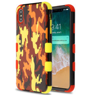 Military Grade Certified TUFF Hybrid Armor Case for iPhone XS Max - Fall Camouflage