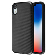 Carbon Fiber Hybrid Case for iPhone XR - Black