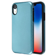 Carbon Fiber Hybrid Case for iPhone XR - Blue