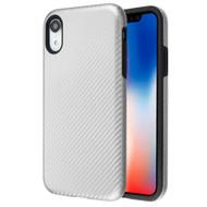 Carbon Fiber Hybrid Case for iPhone XR - Silver