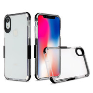 Transparent Protective Bumper Case for iPhone XR - Black