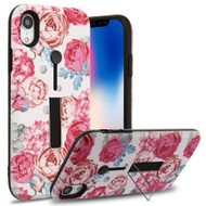 Finger Loop Case with Kickstand for iPhone XR - Victorian Flower