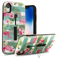 Finger Loop Case with Kickstand for iPhone XR - Tropical Flamingo