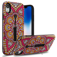 Finger Loop Case with Kickstand for iPhone XR - Mandala Blossom