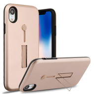 Finger Loop Case with Kickstand for iPhone XR - Rose Gold