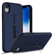 Finger Loop Case with Kickstand for iPhone XR - Navy Blue