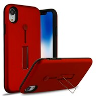 Finger Loop Case with Kickstand for iPhone XR - Red