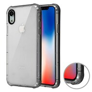 Air Sacs Transparent Anti-Shock TPU Case for iPhone XR - Smoke