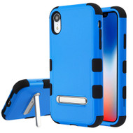 Military Grade Certified TUFF Hybrid Armor Case with Stand for iPhone XR - Blue