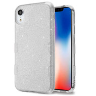 Tuff Full Glitter Hybrid Protective Case for iPhone XR - Silver