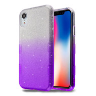 Tuff Full Glitter Hybrid Protective Case for iPhone XR - Gradient Purple