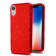 Tuff Full Glitter Hybrid Protective Case for iPhone XR - Red