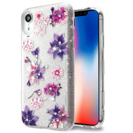 Tuff Full Glitter Diamond Hybrid Protective Case for iPhone XR - Purple Stargazers