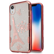 Tuff Lite Quicksand Electroplating Case for iPhone XR - Eiffel Tower