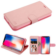 Book-Style Leather Folio Case for iPhone XR - Pink