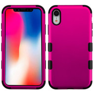 Military Grade Certified TUFF Hybrid Armor Case for iPhone XR - Hot Pink