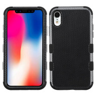 Military Grade Certified TUFF Hybrid Armor Case for iPhone XR - Carbon Fiber