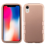 Military Grade Certified TUFF Hybrid Armor Case for iPhone XR - Rose Gold