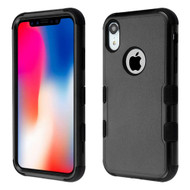 Military Grade Certified TUFF Hybrid Armor Case for iPhone XR - Black