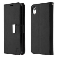 Essential Leather Wallet Stand Case for iPhone XR - Black