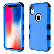 Military Grade Certified TUFF Hybrid Armor Case for iPhone XR - Blue