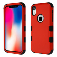 Military Grade Certified TUFF Hybrid Armor Case for iPhone XR - Red