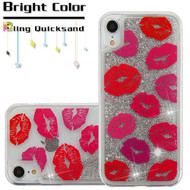 Quicksand Glitter Transparent Case for iPhone XR - Blissful Kisses