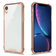Ultra Hybrid Shock Absorbent Crystal Case for iPhone XR - Rose Gold