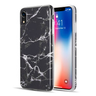 Marble TPU Case for iPhone XR - Black