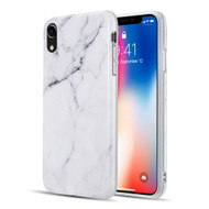 Marble TPU Case for iPhone XR - White