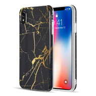 Marble TPU Case for iPhone XR - Black Gold