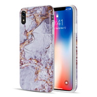 Marble TPU Case for iPhone XR - Grey Gold