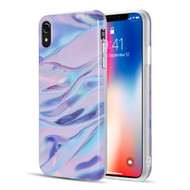 Marble TPU Case for iPhone XR - Blue Purple
