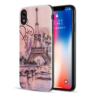 Art Pop Series 3D Embossed Printing Hybrid Case for iPhone XR - Paris