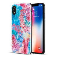 Art Pop Series 3D Embossed Printing Hybrid Case for iPhone XR - Flower Mandala