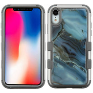 Military Grade Certified TUFF Hybrid Armor Case for iPhone XR - Marble Blue