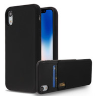 Under Cover Card Slot Case for iPhone XR - Black