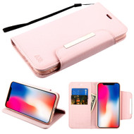 Designer Leather Wallet Shell Case for iPhone XR - Pink