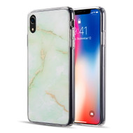 Marble IMD Soft TPU Glitter Case for iPhone XR - Green