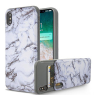 Under Cover Card Slot Case for iPhone XS Max - Marble White