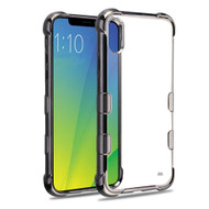TUFF Klarity Electroplating Transparent Anti-Shock TPU Case for iPhone XS / X - Gunmetal